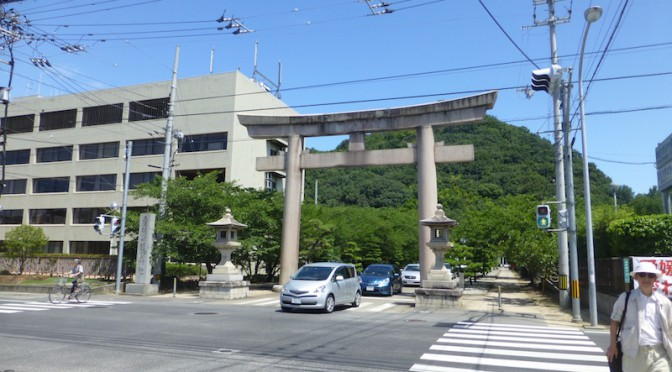 The main torii of Ehime gokoku jinja